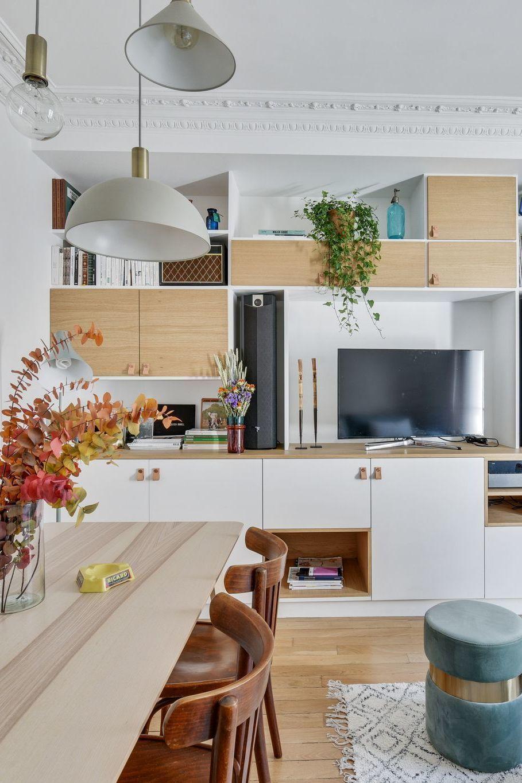Rangement Des Meubles Sur Mesure Et Multifonctions In 2020 With Images Custom Storage Paris Apartments Storage Spaces