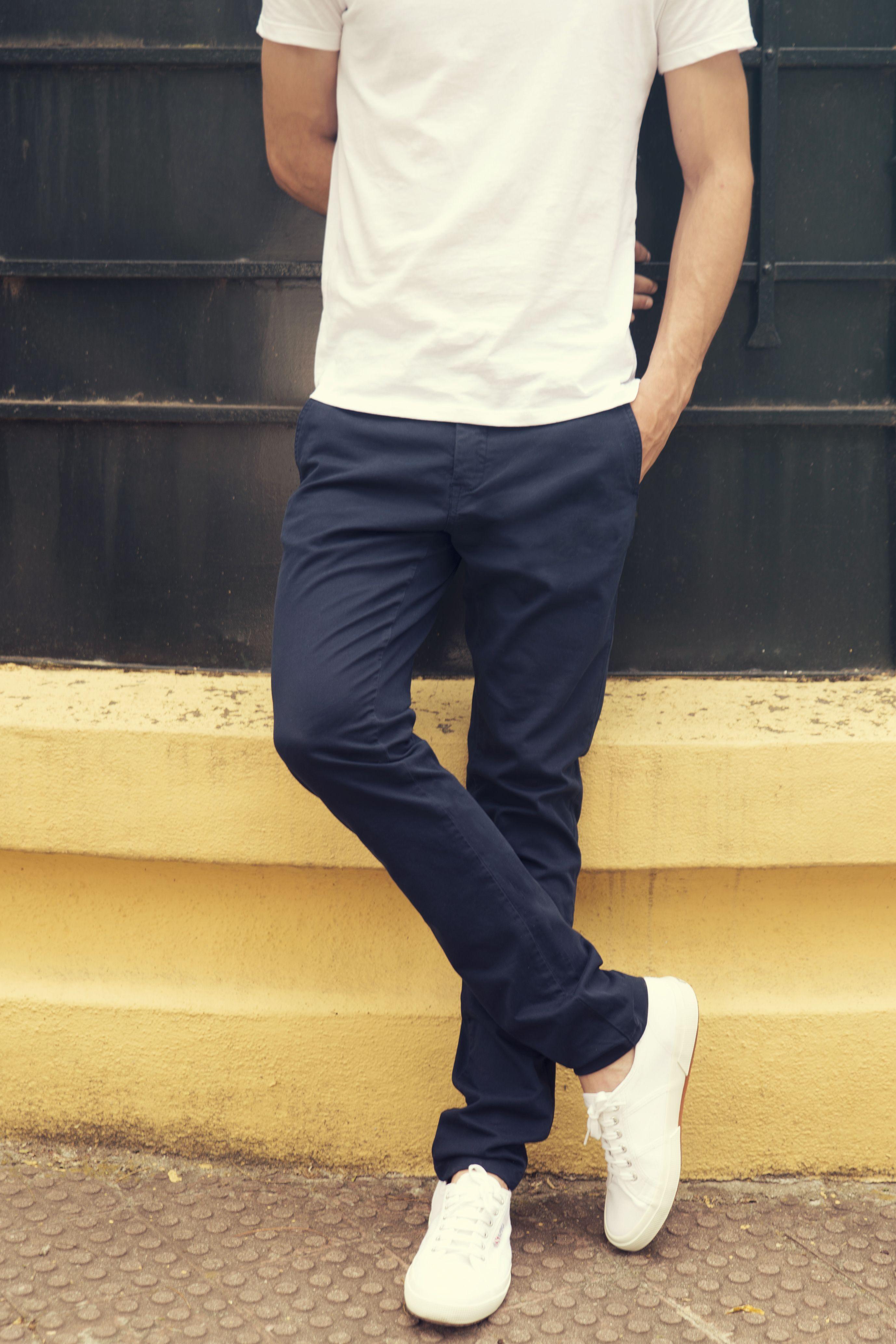 Chino Regular Atlantic Azul Marino Pantalones Chinos Hombre Pantalones De Hombre Jeans Pantalones De Hombre