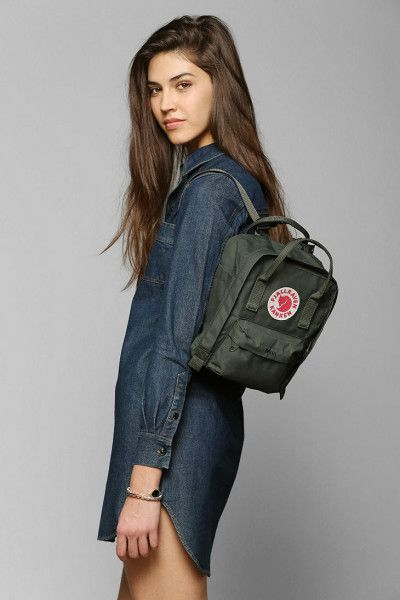 9b7779bcce Urban Outfitters Fjallraven Kanken Mini Backpack in Green (DARK GREEN)