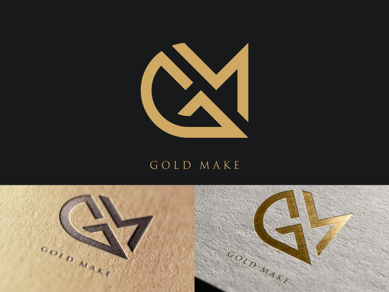 Gm Gold Make Branding Design Logo Letter Logo Design Monogram Logo Design