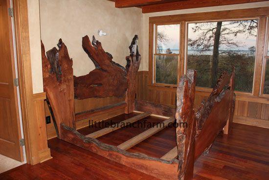 naturalwoodbeds.jpg 550×367 pixels Rustic bedding