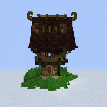 Fantasy Elven Unfurnished Bookstore - Blueprints for MineCraft Houses, Castles, Towers, and more