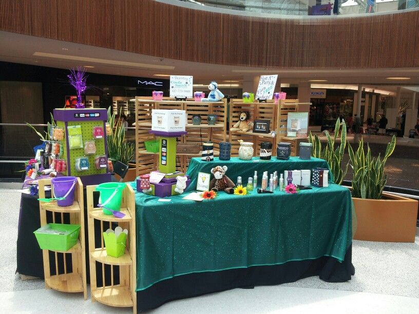 My Scentsy display at the Natick Mall.