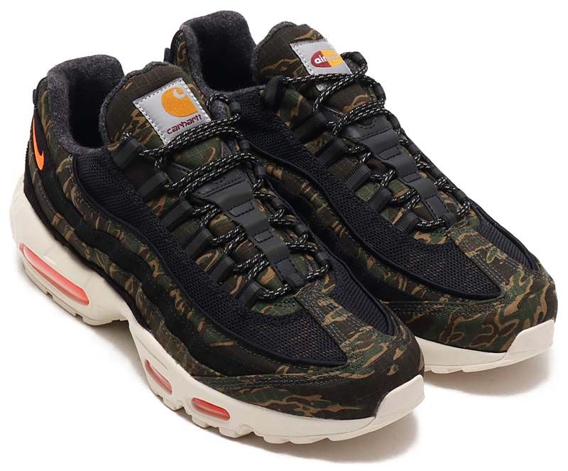 fbeaf6dba2 NIKE AIR MAX 95 CARHARTT WIP [BLACK / TOTAL ORANGE / SAIL] av3866-001
