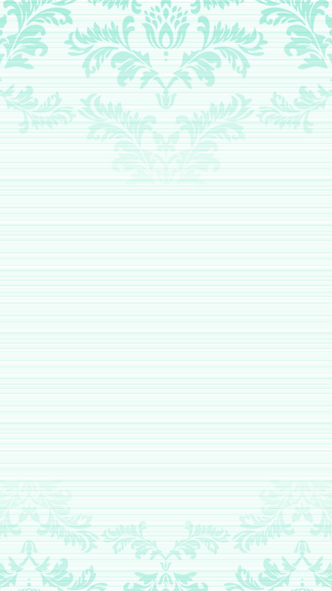 Pastel Mint Green Ombre Damask Frame Iphone Phone Lock