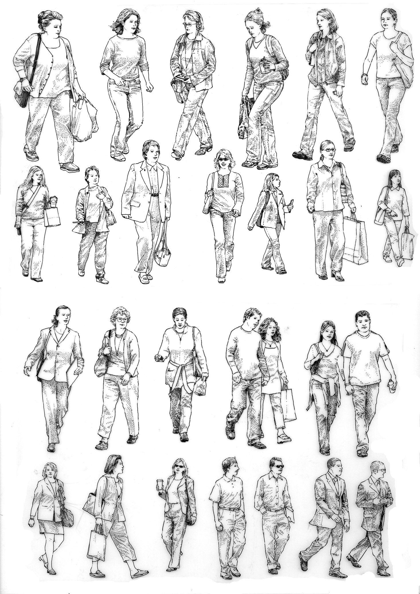 Entourage_samplepage2 sketches of people human figure