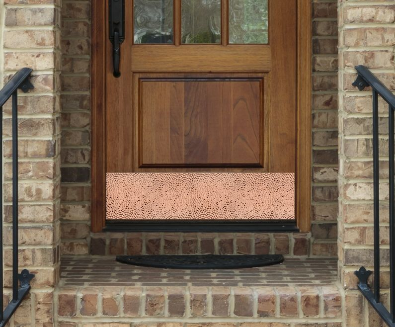 Shop decorative door kick plates from Deck the Door Decor including designer engraved kick plate styles monogrammed kick plates and custom logo plates & Copper is so appealing to the eye and textured design elements add ...