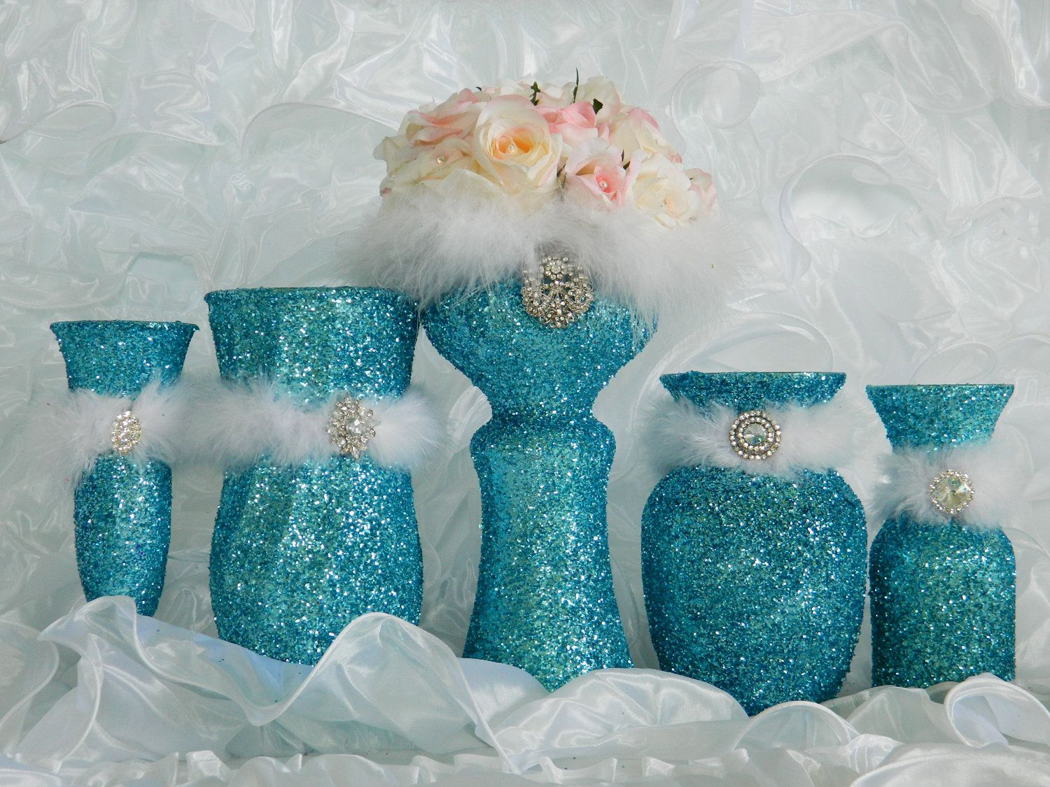 Tiffany Blue Wedding Decorations, Wedding Reception, Aqua, Quinceanera,  Baby Shower, Bridal