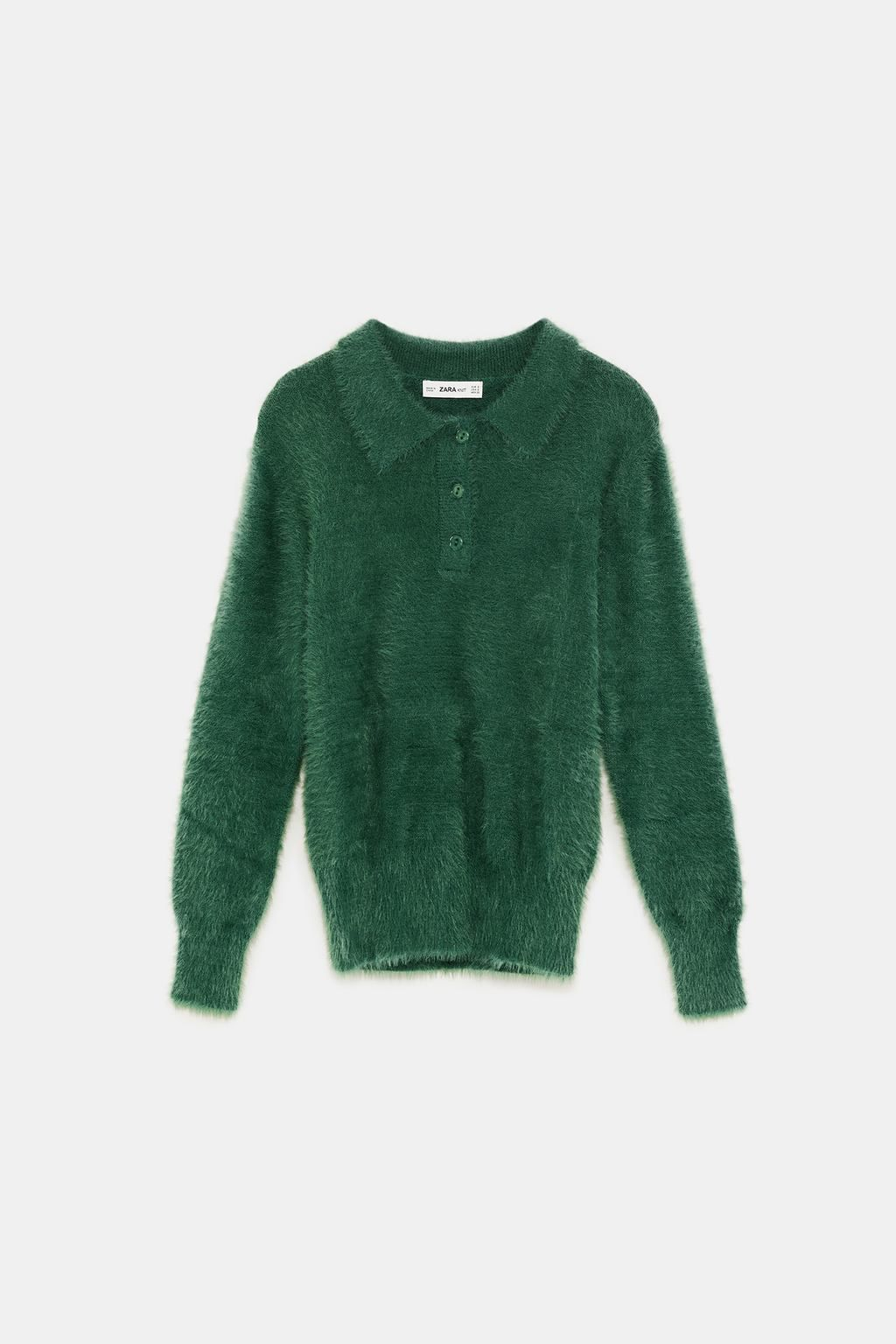 d32f4182 Image 8 of TEXTURED POLO SWEATER from Zara | fw18 | Polo sweater ...