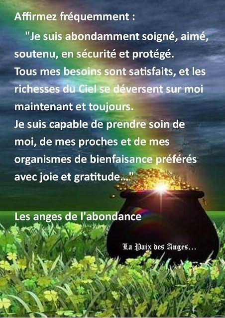La Paix Des Anges Affirmation Priere De Liberation Citations Sur La Foi Citation Spirituelle
