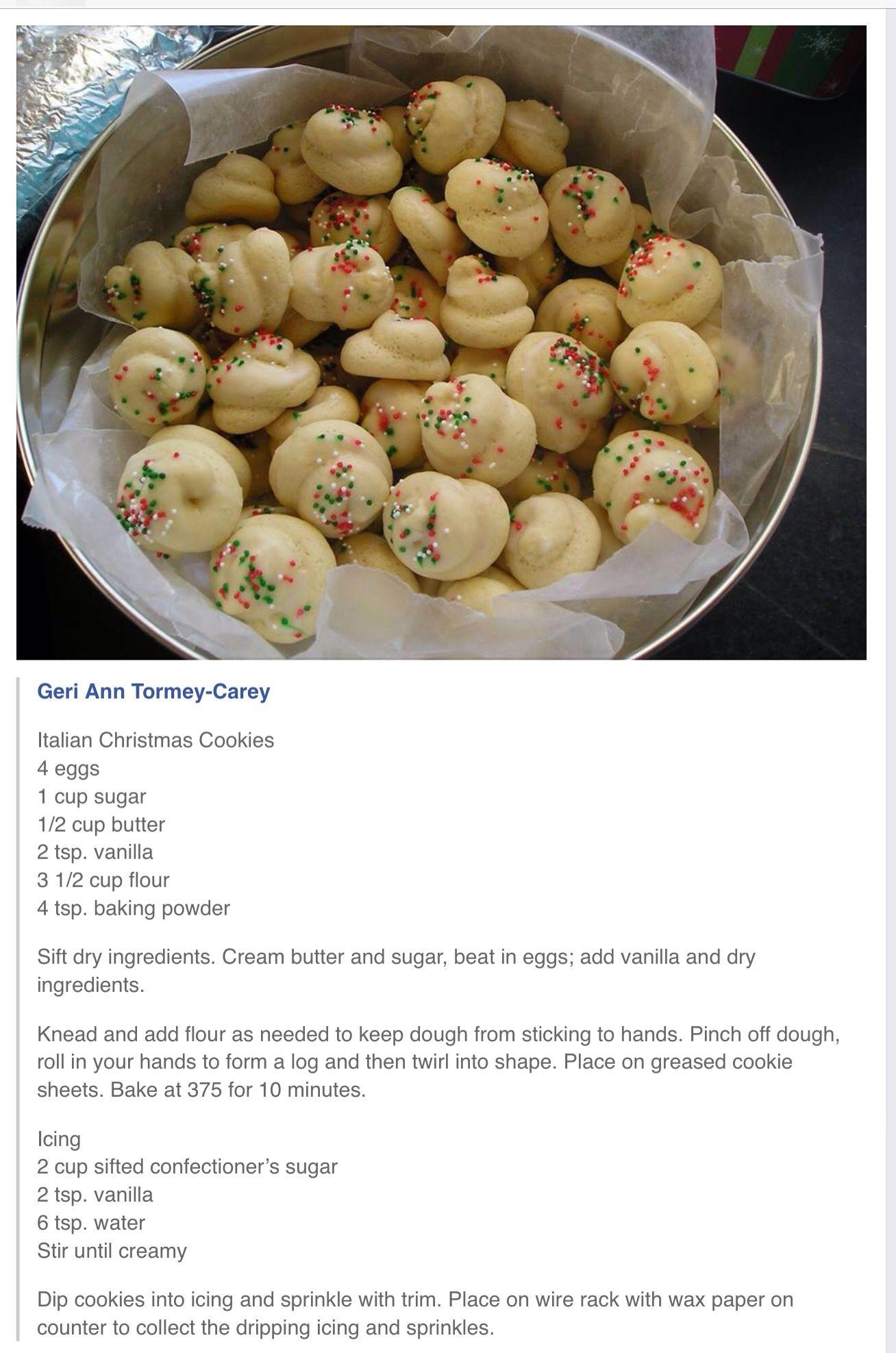 Italian Christmas Cookie Recipe | Yummy Looking Recipes! | Pinterest ...
