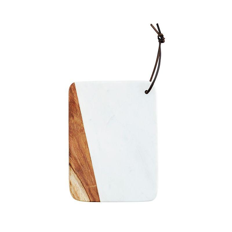 Deseczka do krojenia drewno-marmur (biała) Madam Stoltz