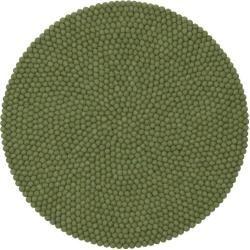 Handgefertigter Teppich Kaspar aus Schaffell in Dunkelgrün myfelt