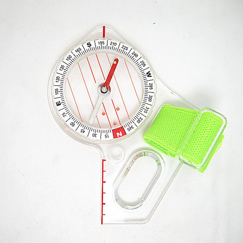 Outdoor Accessories Compass With Rope Rulers Multifunctional Map Scale Ruler