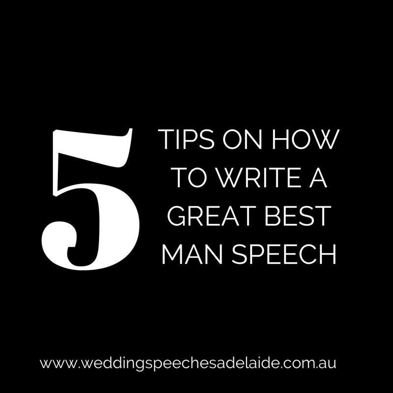 how to write the best best man speech