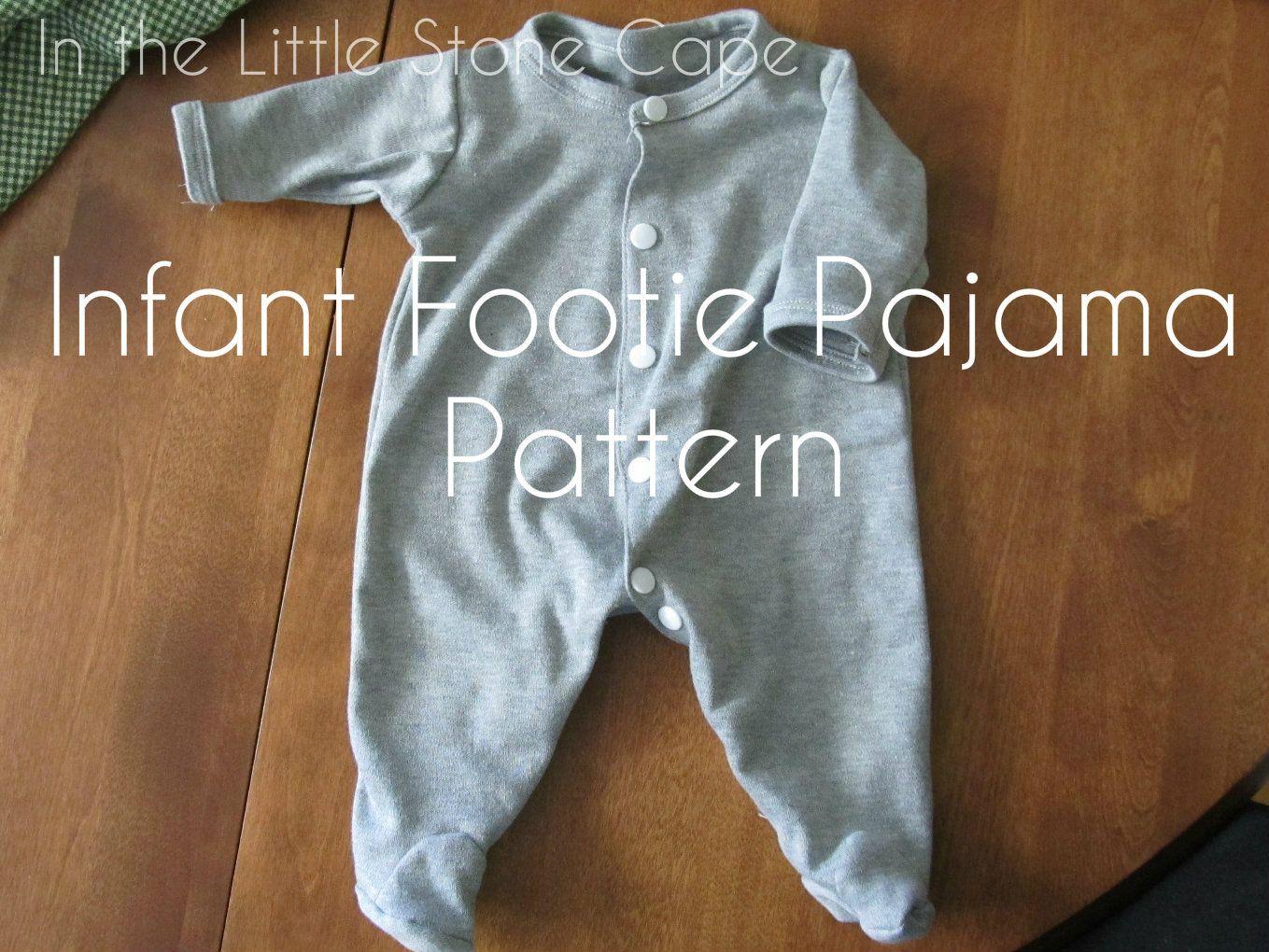En la pequeña piedra del Cabo: Niño Footie pijama Patrón