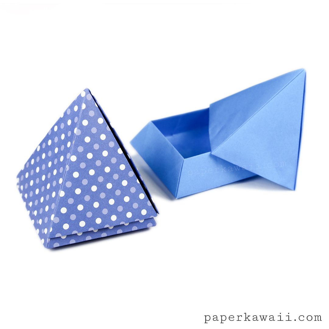 Learn How To Make A Cool Origami Pyramid Box Or Pot The Lid Rests Nicely