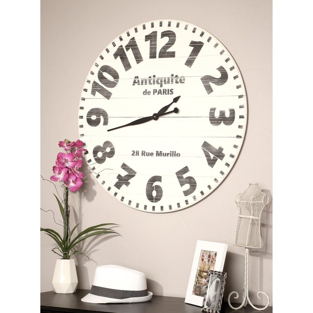 Overstock Com Online Shopping Bedding Furniture Electronics Jewelry Clothing More Oversized Wall Clock Paris Wall Clock White Industrial