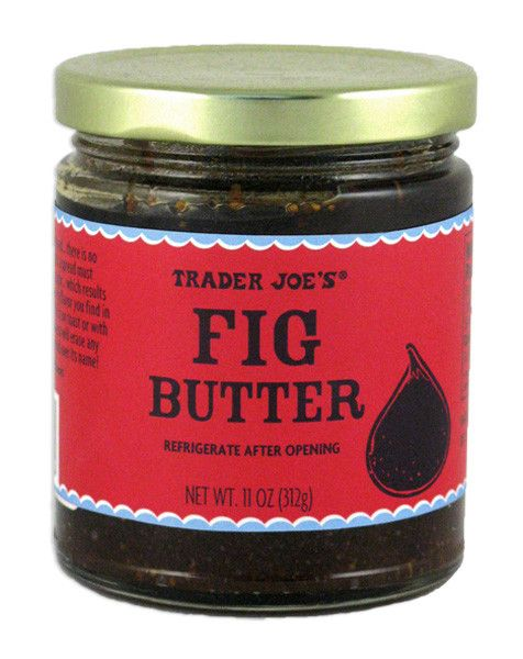 Fig Butter, $3 - We were tempted to include TJ's famous Cookie Butter here, but we thought the equally obsession-worthy Fig Butter would be a better choice. This product tastes good on everything; we suggest adding it to a cheese plate spread when entertaining, or spreadingit into a grilled cheese sandwich.