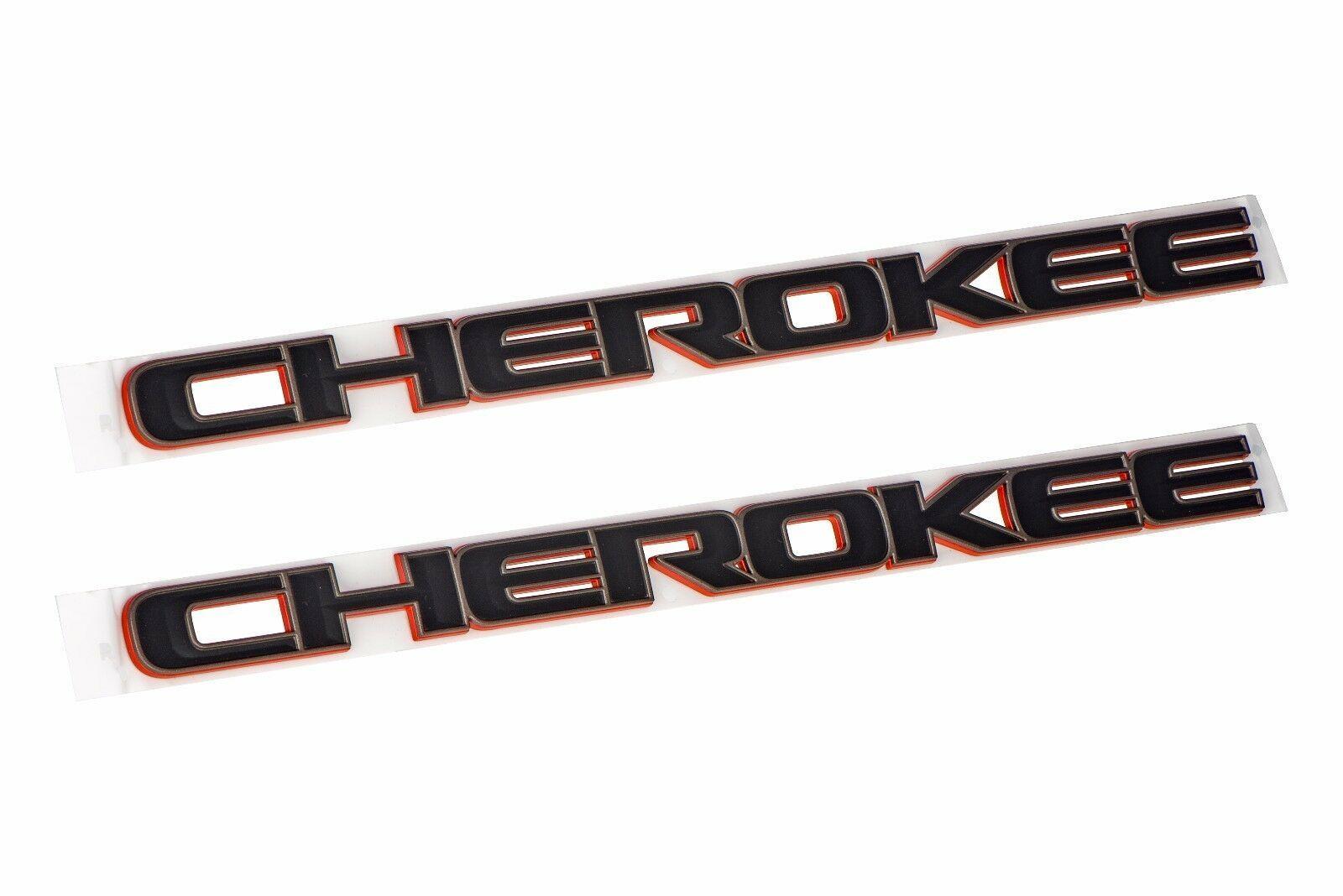 2014 2018 Jeep Cherokee Front Door Nameplate Emblem Badge Set Of 2