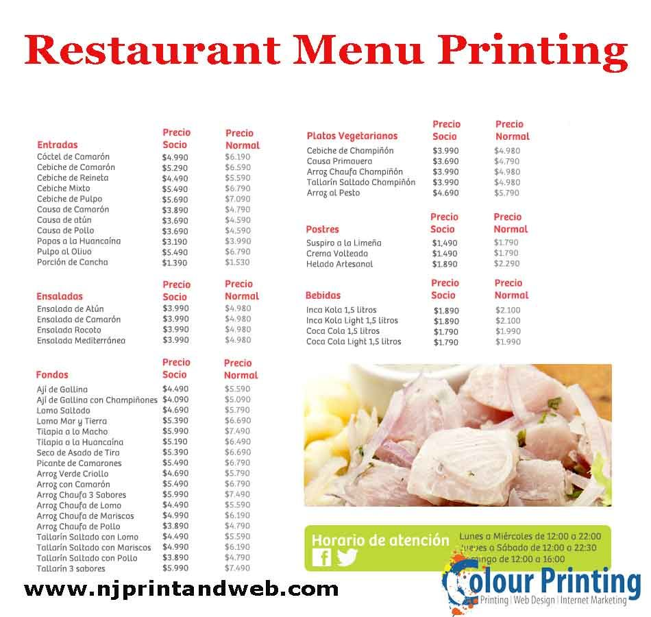 pin by colour printing on restaurant menu printing pinterest