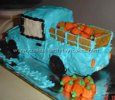 """Little Blue Truck"" party cake idea"