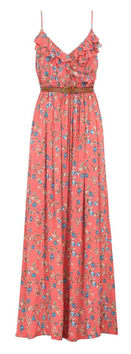 Floral maxi dress- cute but I'd have to be careful to not look like an old lady.