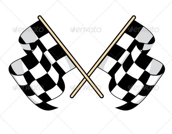 Checkered Flags Flag Icon Black And White Flag Checkered Flag