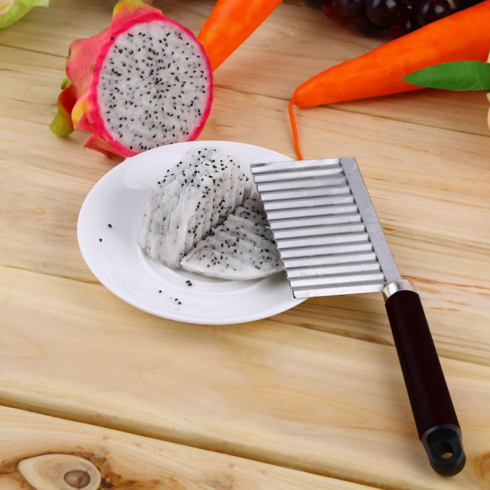 Loaf Soap Tools Crinkle Wavy Cutter Stainless Steel Blade Potato Chip Slicer