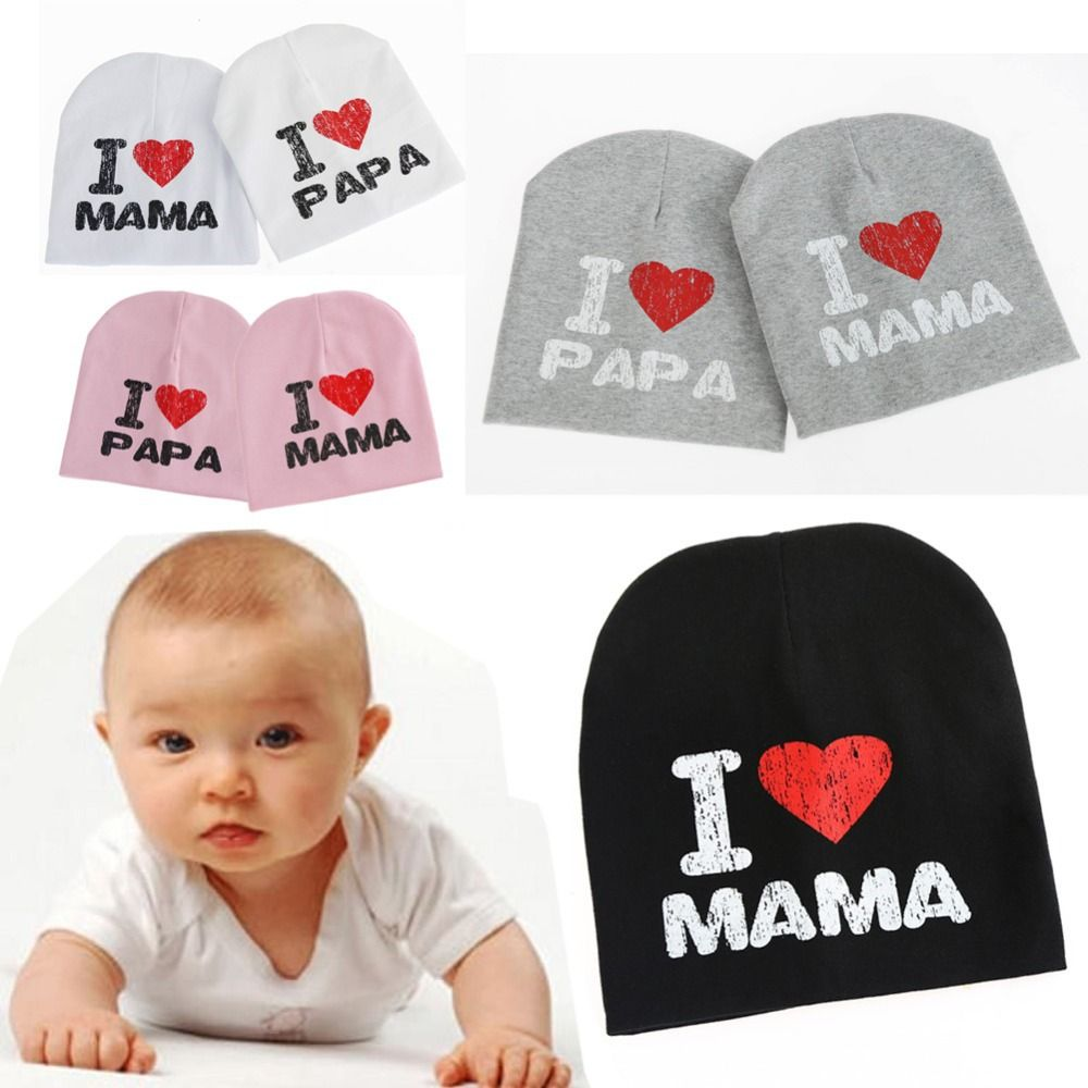 New Style Baby Knitted Warm Cotton Beanies Hat For Toddler Baby Kids Girl  Boy I LOVE 94d51bc0a674