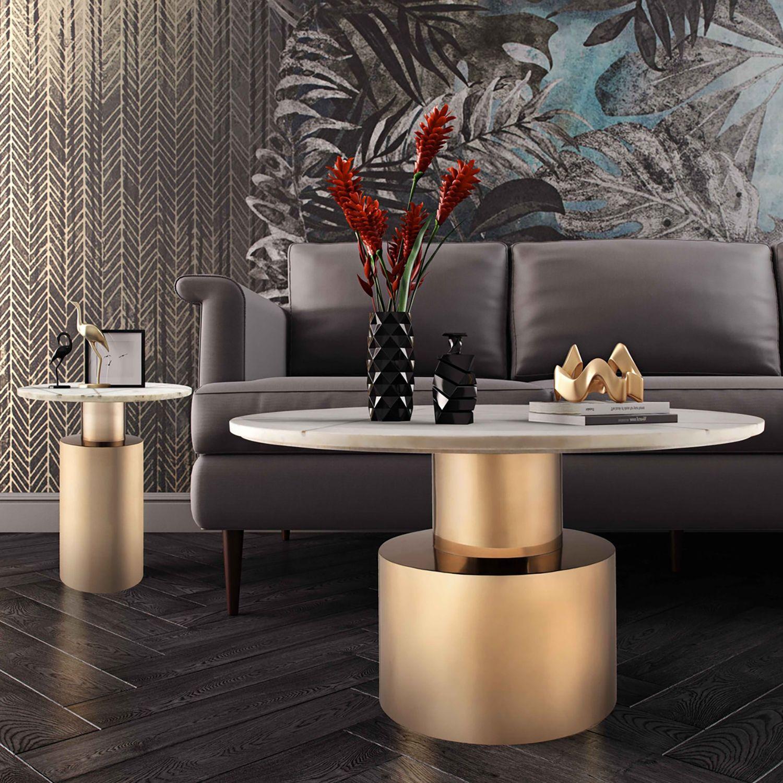 Candelabra Home Terzo Marble Coffee Table White White Marble Side Table Coffee Table Marble Cocktail Table #white #marble #living #room #table