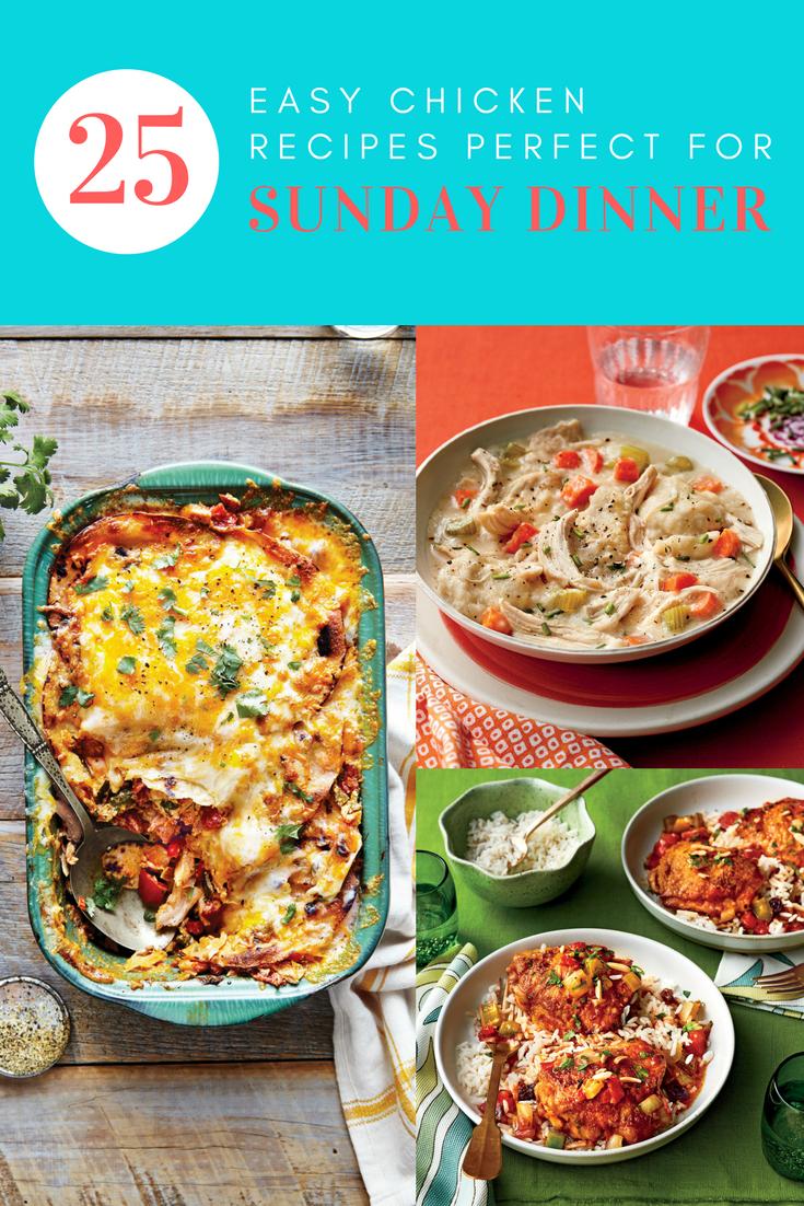 25 Easy Sunday Dinner Ideas Using Chicken That Ll Kickstart Your Week Sunday Dinner Recipes Easy Sunday Dinner Sunday Family Dinner Ideas