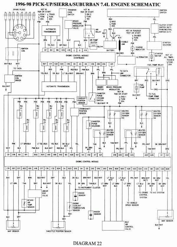 Wiring Diagram For 1990 Chevy Pickup With Deisel Engine And Chevy Silverado Electrical Diagram Esquemas Electronicos Sistema Electrico Tecnicas De Construccion