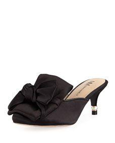 a39201275ec Shop Caroline Satin Slide Mule from Neiman Marcus at Neiman Marcus Last Call