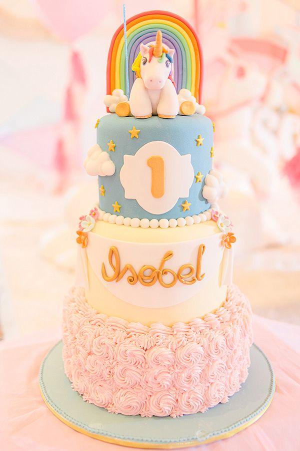 Unicorn Themed Birthday Party Baby Girl Themes Rainbow