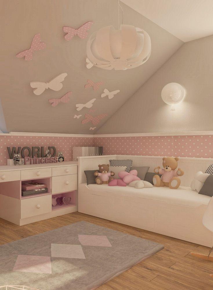 Deko-Tipp Kinderzimmer Wände mit Schmetterlingen selbst gestalten #kleinkindzimmer