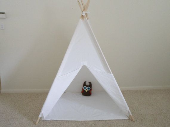 Muslin Teepee Tent with Floor Mat  Play Tent with by Theteepeeguy, $145.00