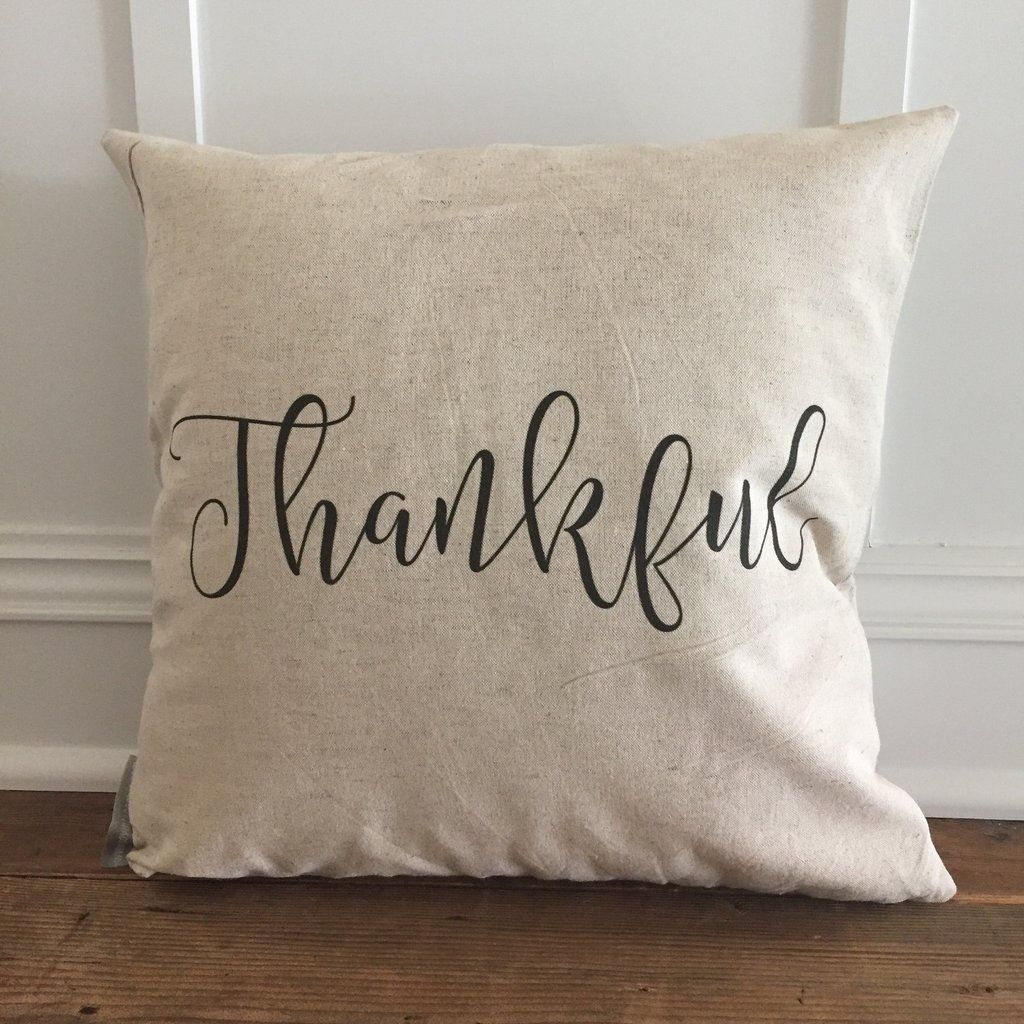 Thankful pillow cover housewarming gifts living spaces and pillows