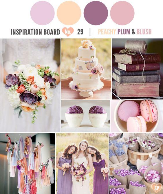 Peach Plum And Blush Wedding Inspirations
