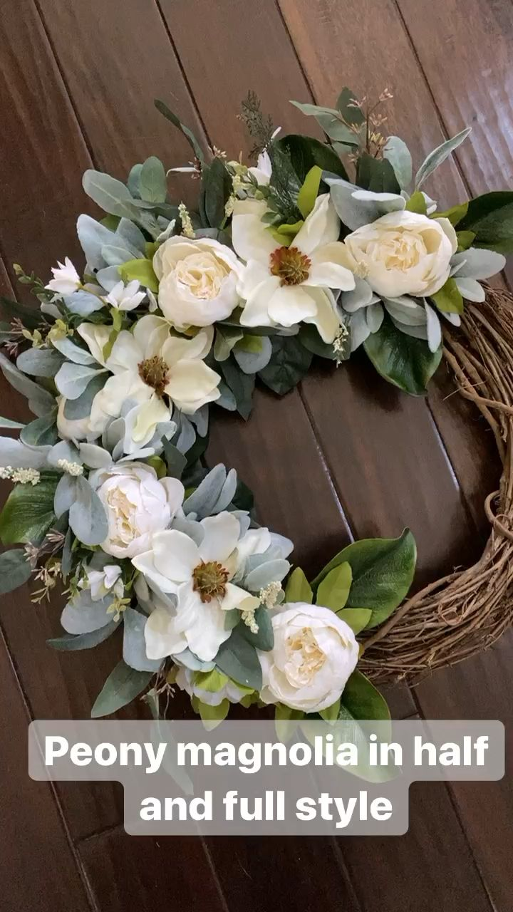 Photo of Peony magnolia wreath