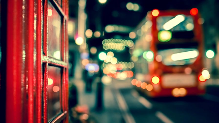 British City Night Scene Wallpaper High Quality Size Download Free