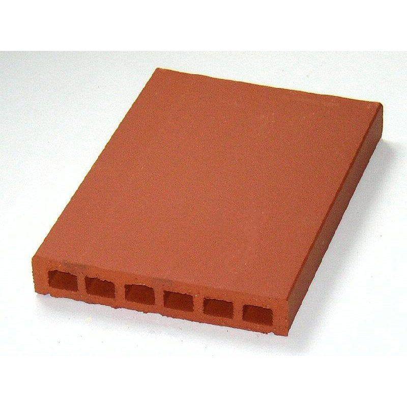 Couvre Mur Plat Lisse Rouge H5 X L40 X P28 Cm Products