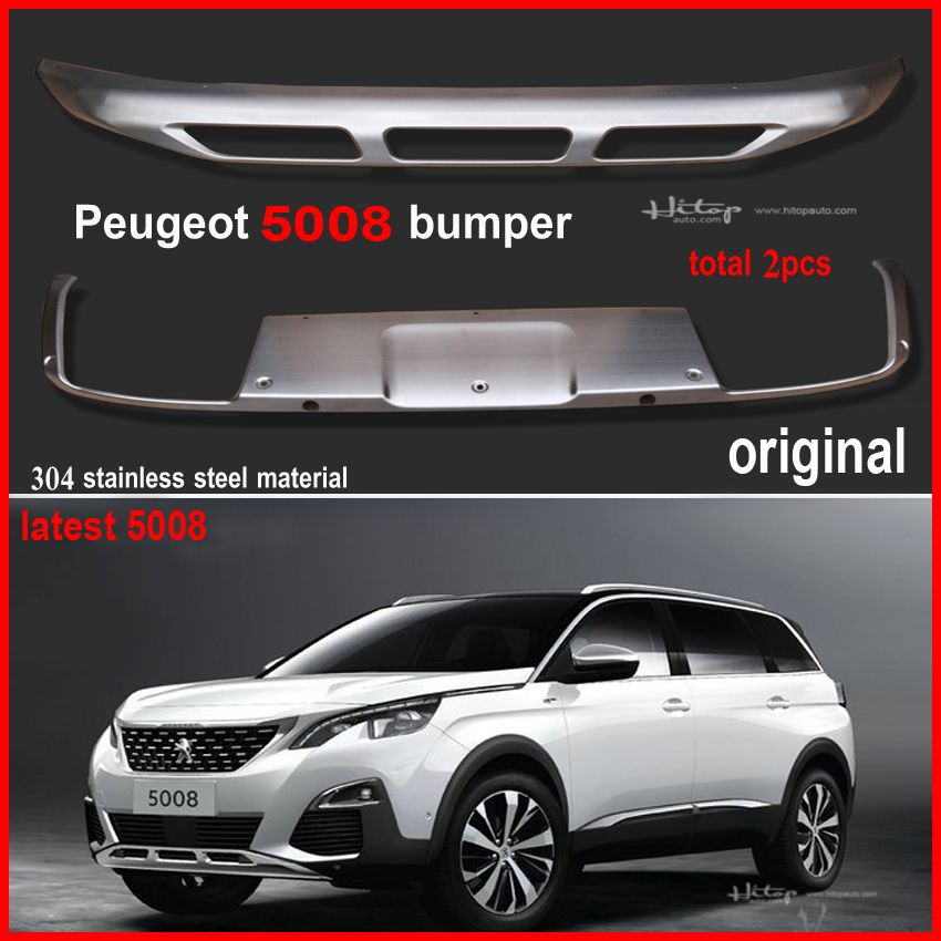 For Peugeot 5008 2017 Original Model Bumper Cover Rear Trunk Skid Plate Best 304 Stainless Steel Material Fre Peugeot Stainless Steel Material Stainless Steel