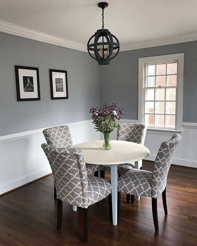 Thundercloud Gray by Benjamin Moore  kitchen dining room