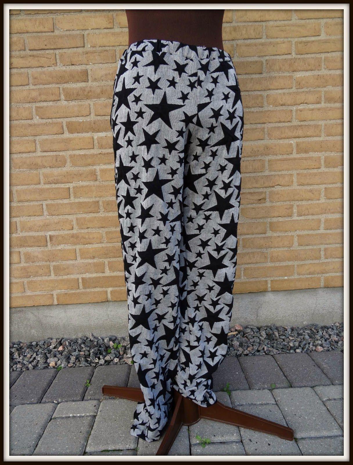 Stjerne bukser og tørklæde