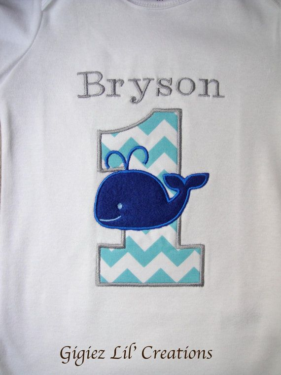 Personalized Whale Birthday Custom by GigiezLilCreations on Etsy, $23.00