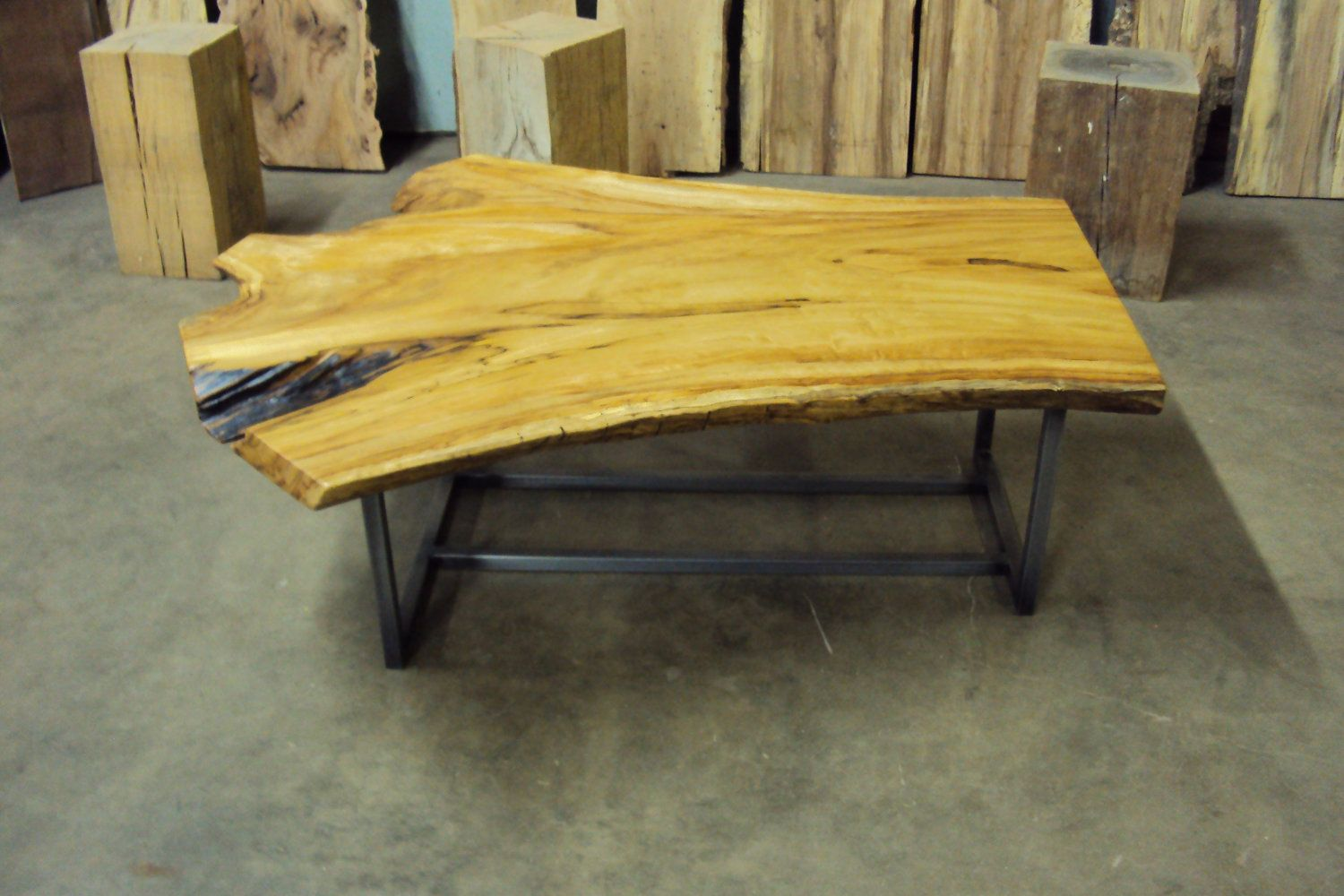 Coffee Table Live Edge Made From Cottonwood Live Edge Table Coffee Table Table [ 1000 x 1500 Pixel ]