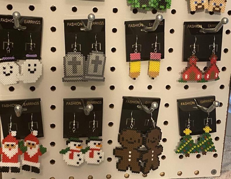 115 Geeky Fun Movie Game Inspired Earrings Keychains Etsy Fun Earrings Keychain Mushroom Pictures