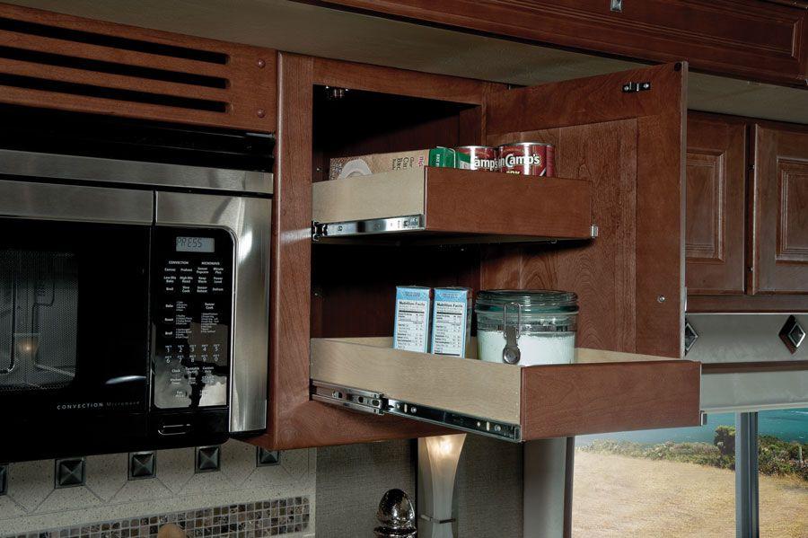 Sliding drawers | Upper cabinets, Kitchen, Kitchen appliances