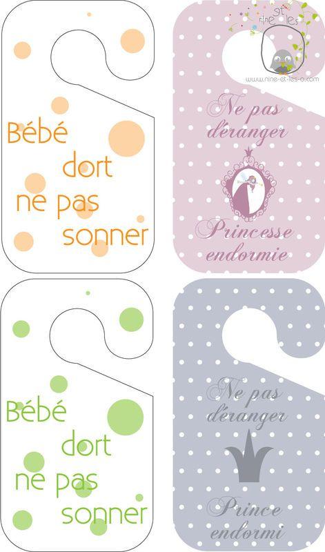 Pancartes Ne Pas Déranger Nine Leso Pancarte Bebe